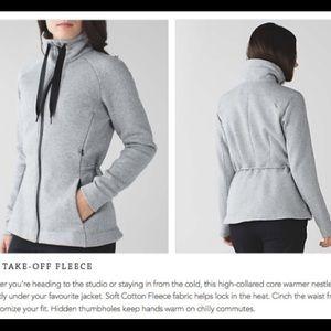 Lululemon sweater & go take black grey heathered